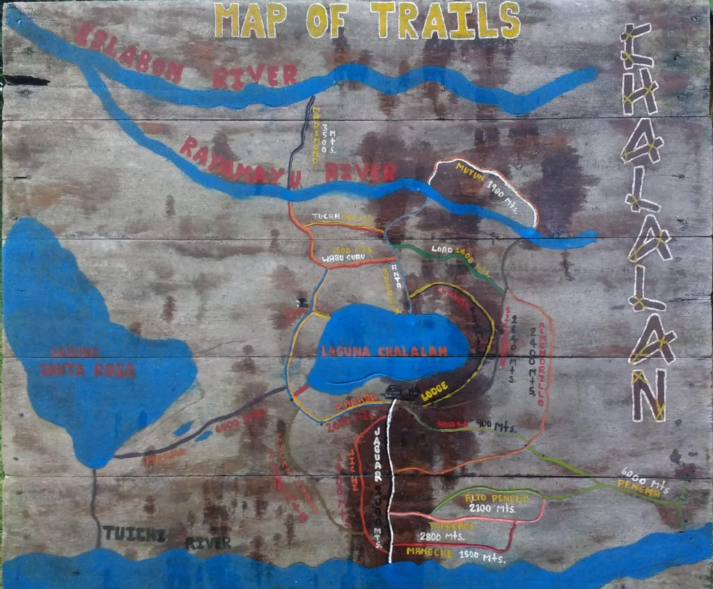 Trail map Chalalán